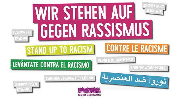 wir stehen auf gegen Rassismus